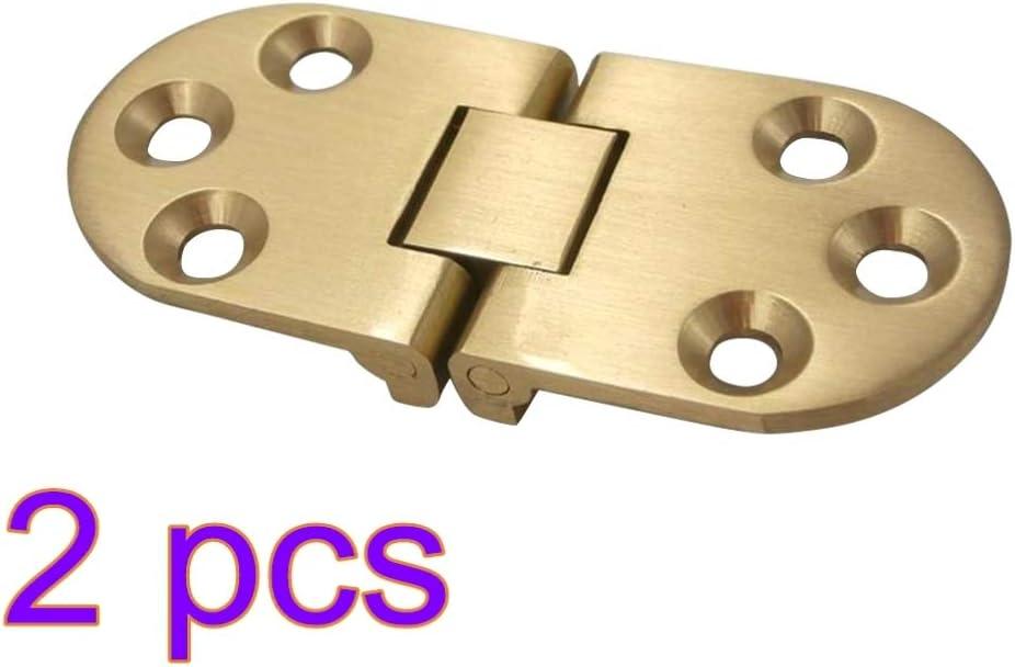 DOITOOL Bisagras de latón macizo de 2 piezas para bisagra de cajón de gabinete con tornillos para tapa abatible de mesa plegable puerta de gabinete de mesa