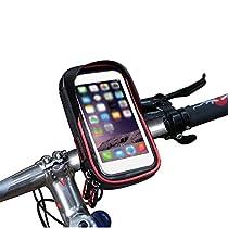 wheelup Fahrradhalterung Halter Lenkradhalterung Bike Holder mit wasserdichter Schutzhülle Tasche Universal für Smartphones, Handy, Navi, GPS !Halterung 360 Grad drehbar / Handyhalterung für 6 Zoll iPhone 6 7 Plus 6s 7s Plus, Samsung Galaxy S8 S6 S6 S5 S4 Sony Xperia Z3 Z4 Z5 OnePlus 3 ZTE Axon 7 LG G5 G6 G4 Honor 8