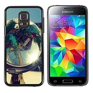 Caucho caso de Shell duro de la cubierta de accesorios de protección BY RAYDREAMMM - Samsung Galaxy S5 Mini, SM-G800, NOT S5 REGULAR! - Globe Shine
