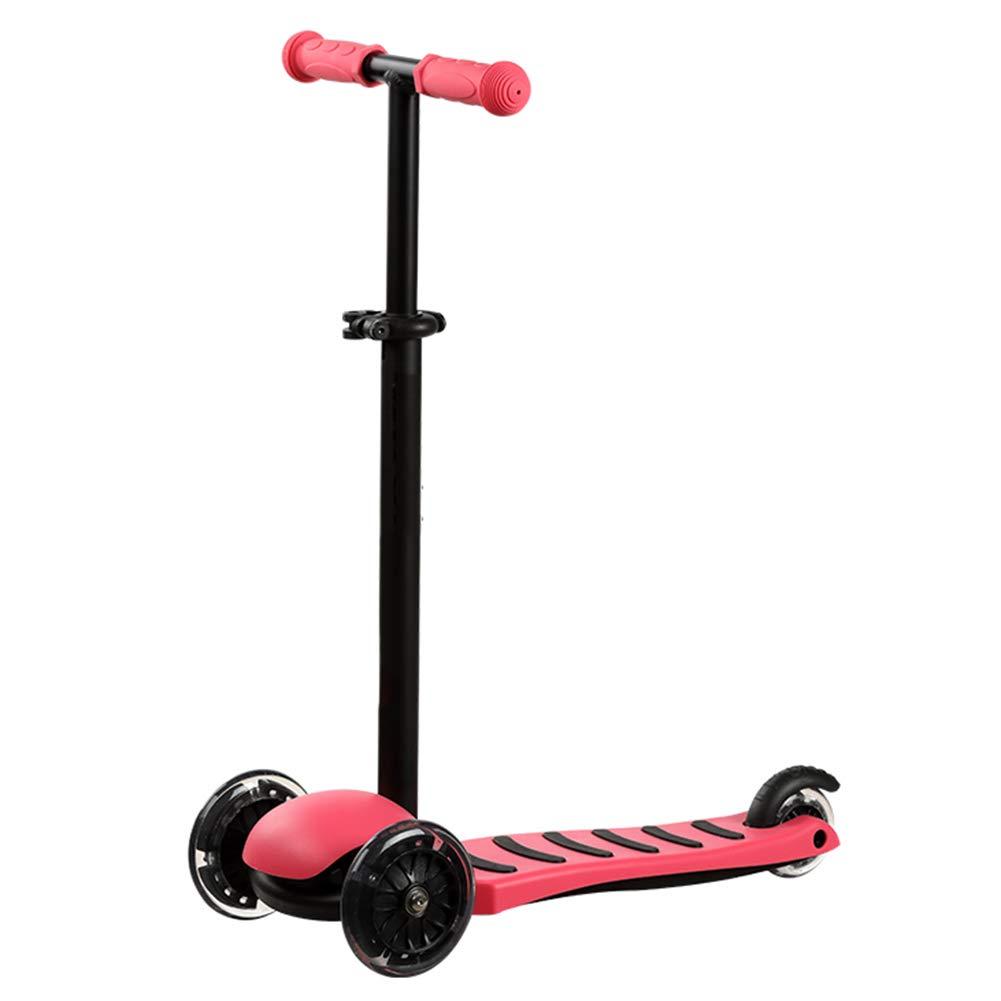 ベストセラー キックスクーター三輪車スケートボードペダル式乗用スタントスクーター最初のスクーター折りたたみTバーハンドルLEDライトアップホイール付き調節可能な Red B07H8JF7H7 B07H8JF7H7 Red Red Red, ナガサキシ:7c5cf900 --- a0267596.xsph.ru
