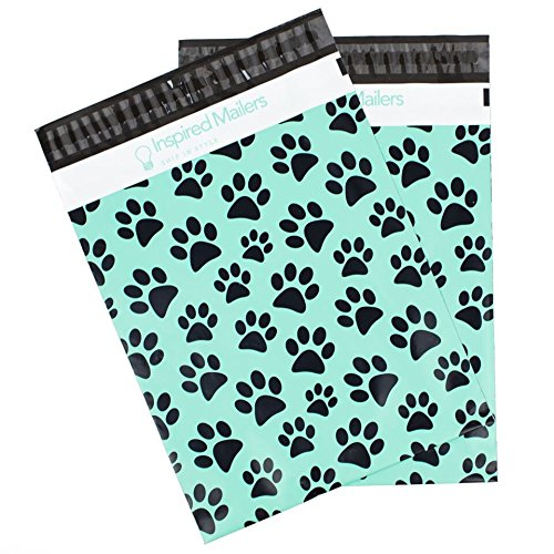 Inspired Mailers Poly Mailers 10x13 Puppy Paws – Pack of 100 – Unpadded Shipping Bags by Inspired Mailers