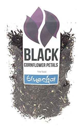 Black Cornflower Petals - 100% Organic, dried - Natural Organically Grown Herbal Flowers for For Homemade Lattes, Tea Blends, Bath Salts, Gifts, Crafts. (Centaurea Cianus)