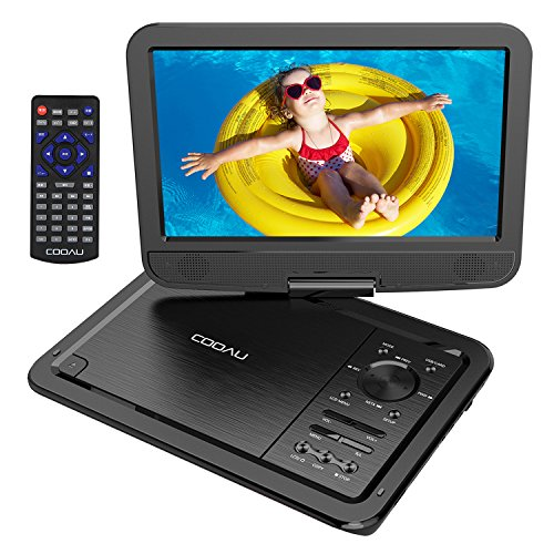 """COOAU 12.5"""" Portable DVD Player with Eye-Protected HD Swivel Screen,..."""