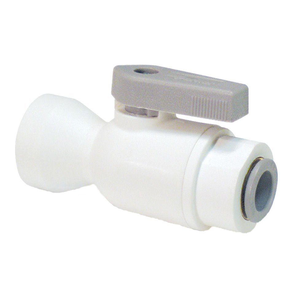 2-Piece Valve Structure 3//8 Polypropylene Pack of 20 Tube to Female Pipe 3//8 Parker LFPP6VFC4-pk20 Ball Valve Push-to-Connect Connector