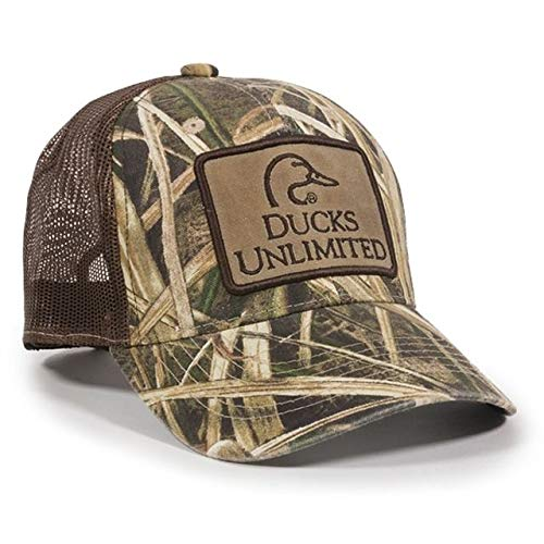 Outdoor Cap Ducks Unlimited Camouflage Patch Cap, Mossy Oak Shadow Grass Blades Ducks Brown