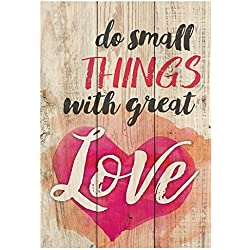 "P. Graham Dunn 6.5"" x 4.5"" Mini Tabletop Wooden Decorative Sign (Do Small Things with Great Love)"