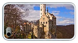 Hipster iPhone 4 online cover lichtenstein castle TPU White for Apple iPhone 4/4S
