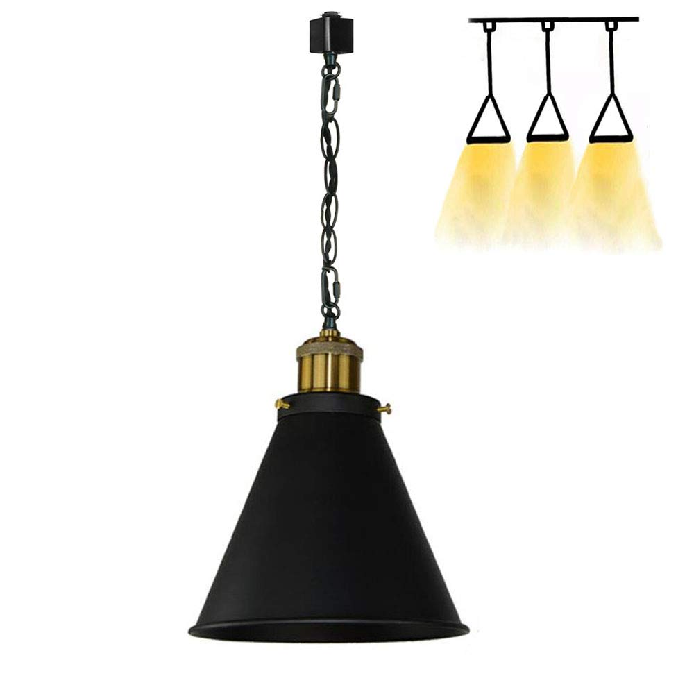 KIVEN H-System 3 Wire Track Mount Lighting Fixture Swag Light Come with Chain,1 Pack