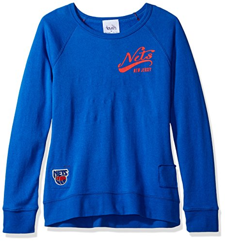 Touch by Alyssa Milano NBA New Jersey Nets Women's Dugout Reversible Pullover Sweatshirt, Medium, ()