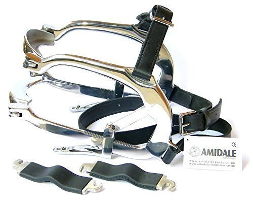 Millennium Speculum with Leather Straps Equine Dental Equipment Mouth Gag for Horse AMIDALE SPORTS