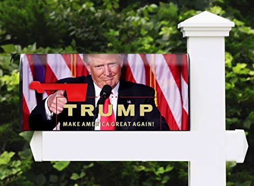 Awesome Mailbox - Custom Trump Design - Metal, Post Mount and Made in the USA
