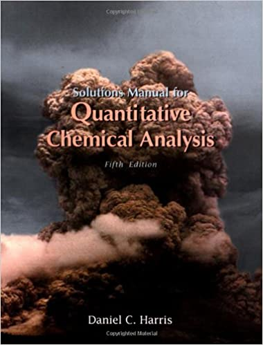 Quantitative Chemical Analysis Harris  AmazonCom