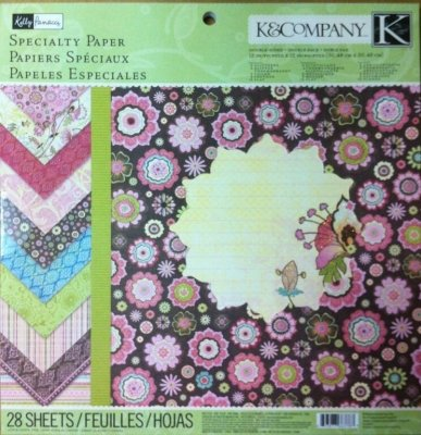 (K&company Blossom Kelly Panacci Letterpress Specialty Paper Pad 28 Sheets )