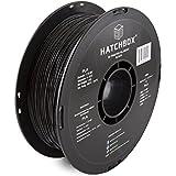 HATCHBOX PLA 3D Printer Filament, Dimensional Accuracy +/- 0.03 mm, 1 kg Spool, 1.75 mm, Black