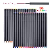 #2: Smart Colored Pens for Bullet Journal Planner 2018-2019, Fine Point Pens Fine Tip Drawing Pens Colorful Markers for Journaling Writing Note Taking Calendar Art Coloring (36 Colors Fineliner Pen Set)