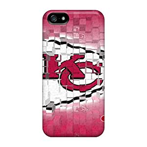 Shock-Absorbing Hard Phone Case For Iphone 5/5s (MwO19954DQUD) Custom Stylish Kansas City Chiefs Series