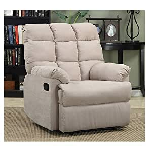 Prolounger wall hugger microfiber biscuit back for Furniture xo out of business