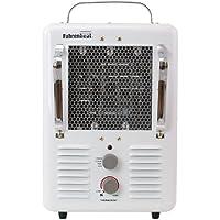 Qmark MMHD1502T Deluxe Portable Fan Forced Utility Heater - MMHD White Baked Enamel