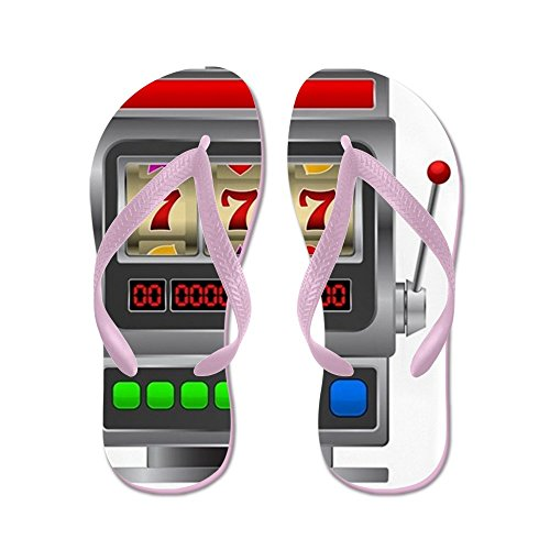 CafePress Slot Machine - Flip Flops, Funny Thong Sandals, Beach Sandals Pink