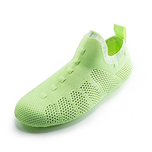 ONEMIX Herren Damen Sneakers leichte atmungsaktive Outdoor Wanderschuhe sockenähnliche Turnschuhe C-grün