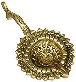 Brass, Handmade Oil Lamp, Sun Diya, 5.75 x 3.25 inches