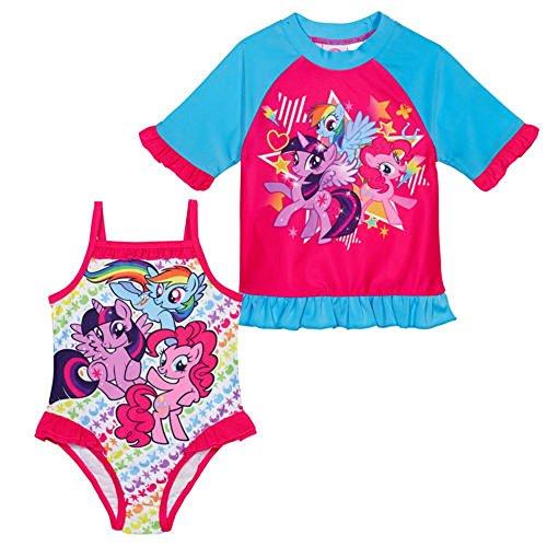 My Little Pony Girls' 2-piece Swim Set-Pink/Blue (3)