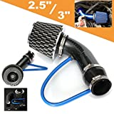 3 inch cold air intake pipe - AUDEW Universal Performance Induction Cold Air Intake Filter Alumimum Pipe HOSE System Carbon