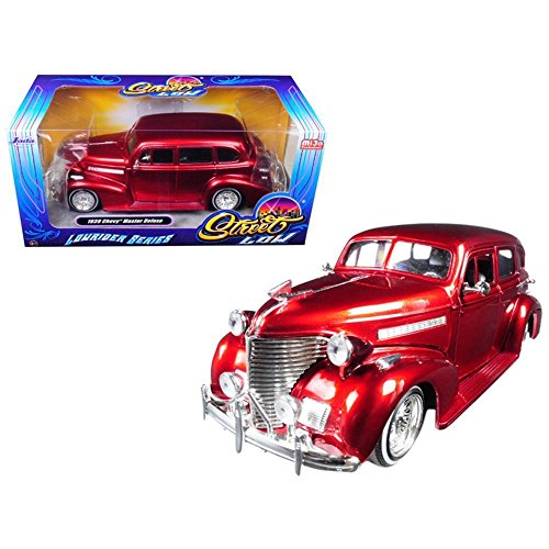 Jada 98914 1939 Chevrolet Maser Deluxe Red Lowrider Series Street Low 1/24 Diecast Model Car ()