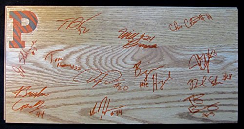 2010-11 PRINCETON TIGERS AUTOGRAPHED TEAM SIGNED Basketball Floorboard w/COA ()