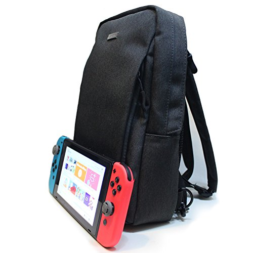 Nintendo Switch Backpack (Travel Bag) - Fits AC Charger, Pro Controller, Extra Joy-cons, iPad, iPhone, Power Bank, and Joy-con Grip - Compatible with 3DS/2DS - Multiple Ways to Carry