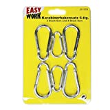 Easy Work carabiner hooks 6/8 cm Pack of 1 261859