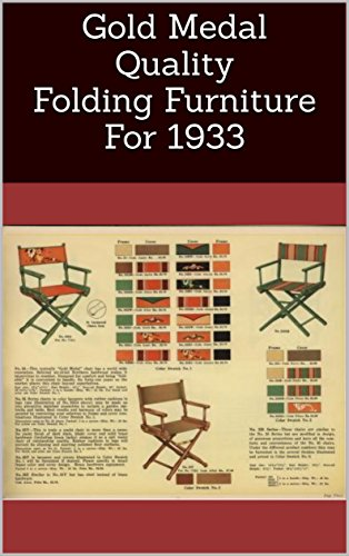- Gold Medal Quality Folding Furniture For 1933