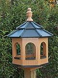 Medium Gazebo Octagon Vinyl Bird Feeder Amish Homemade Handmade Handcrafted Cedar & Black