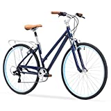 sixthreezero Pave N' Trail Women's 7-Speed Hybrid Bike, 26″ Wheels/ 17″ Frame, Navy Blue, 17″/One Size Review