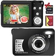 Digital Camera 2.7K 48 Mega Pixels 2.7 Inch HD Camera Rechargeable Mini Camera Students Camera Pocket Camera D