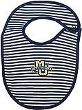 Marquette University Striped Baby Bib