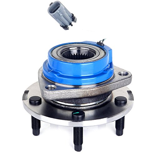 ECCPP Wheel Hub Bearing Assembly New Premium Bearing and Hub Assembly Front Grade 5 Lugs W/ABS Replacement fit for 2001-2005 Buick Pontiac Chevy (Pontiac Grand Prix Wheel Bearing)