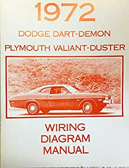 1972 dodge dart demon \u0026 plymoutgh valiant duster factory Palfinger Wiring Diagrams
