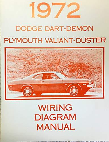 1972 DODGE DART / DEMON & PLYMOUTGH VALIANT / DUSTER FACTORY ELECTRICAL WIRING DIAGRAMS & SCHEMATICS