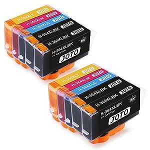 JOTO 364XL Cartuchos de tinta Reemplazo para 364XL 364 XL Alta Capacidad Compatible con Photosmart 7510 5520 5510 5511 5512 5514 5515 7520 5522 5524 ...