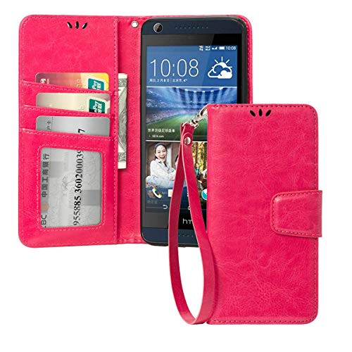 for HTC Desire 626 / 626s Case Folio FLIP Cover with 3 CARDSLOTS Inside,Magnetic Flap Leather Wallet Pouch CASE Cover for HTC Desire - Phone Htc Desire Wallet