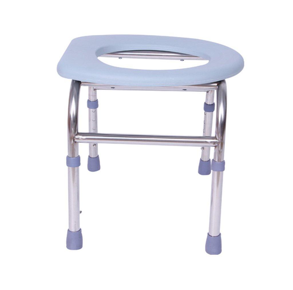 トイレチェア、調節可能なステンレス製のバスルーム老人妊婦トイレチェア B078MWW2PR