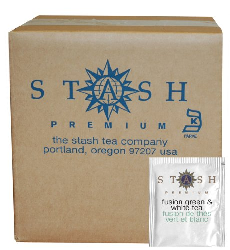 Stash Tea Fusion Green & White Tea, 100 Count Box of Tea Bags in Foil (packaging may vary) (Peony Box Blend)
