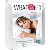 Wrap-A-Bed Quilted mattress Pad-Fitted-3/4 Bed Size