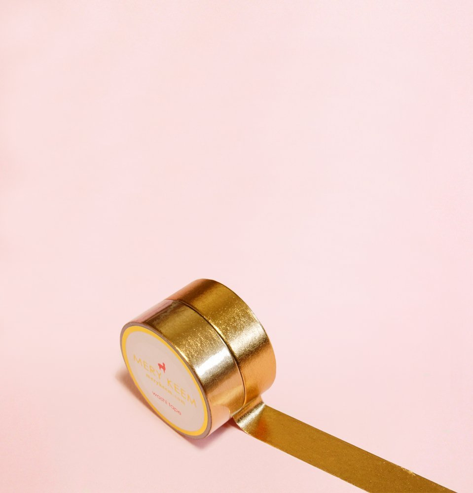 Bronze/Rose Gold Foil Washi Tape for Planning • Scrapbooking • Arts Crafts • Office • Party Supplies • Gift Wrapping • Colorful Decorative • Masking Tapes • DIY