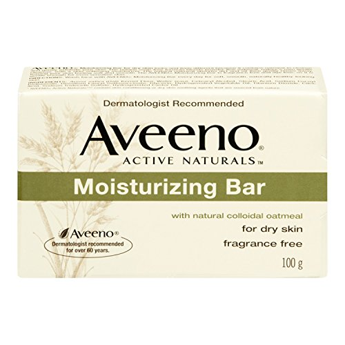 Aveeno Moisturizing Bar with Natural Colloidal Oatmeal for Dry Skin, Fragrance Free, 3.5 oz