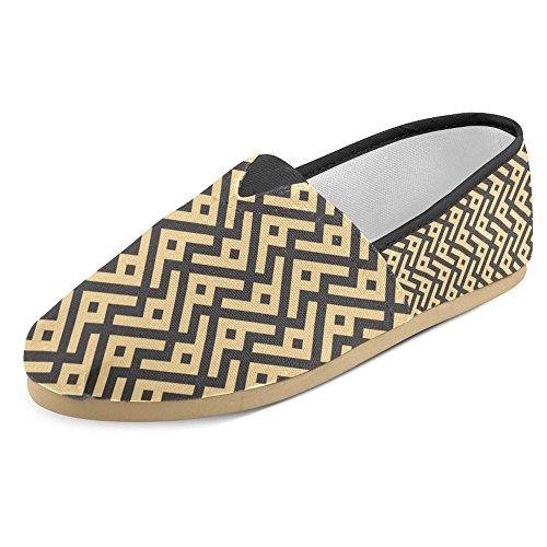 Interestprint Womens Loafers Klassiska Avslappnade Kanfassnedsteget På Mode Skor Gymnastik Lägenheter Konst Textil