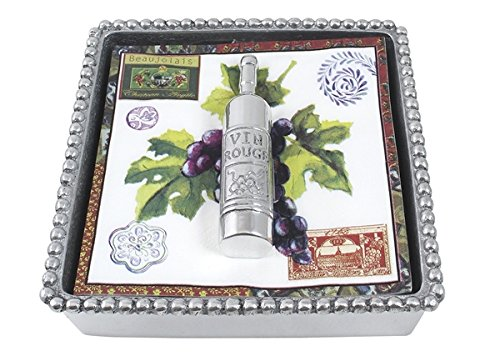 Mariposa 2660-C Wine Bottle Beaded Napkin Box