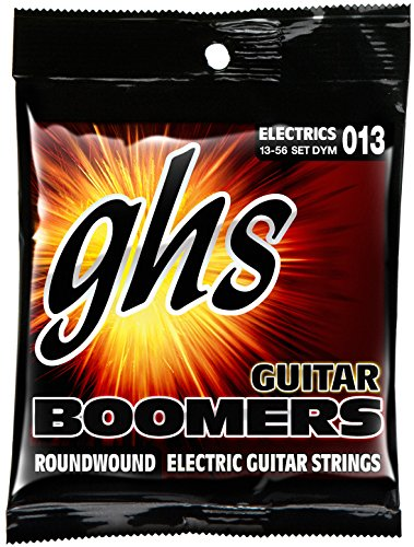 Nickel Wound Medium Electric Guitar (GHS Strings DYM Guitar Boomers, Nickel-Plated Electric Guitar Strings, Wound G, Medium (.013-.056))