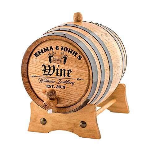 Personalized - Custom Wine Oak Aging Barrel - Barrel Aged (10 Liters) by Sofia's Findings (Image #1)